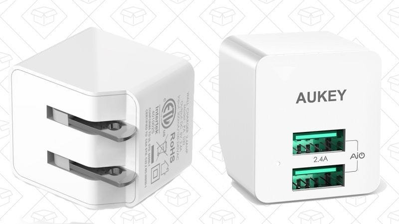 Aukey USB Wall Charger, $6 with code ZOERF9IO