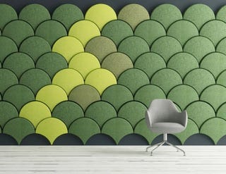 Illustration for article titled These Scale-Shaped Tiles Will Soundproof Your Room With Style