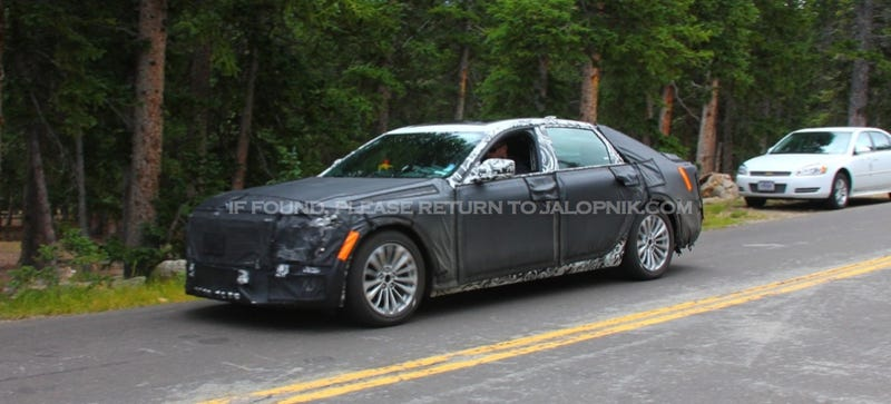 Illustration for article titled The Twin-Turbo Hybrid Cadillac CT6 Flagship Will Debut On March 31