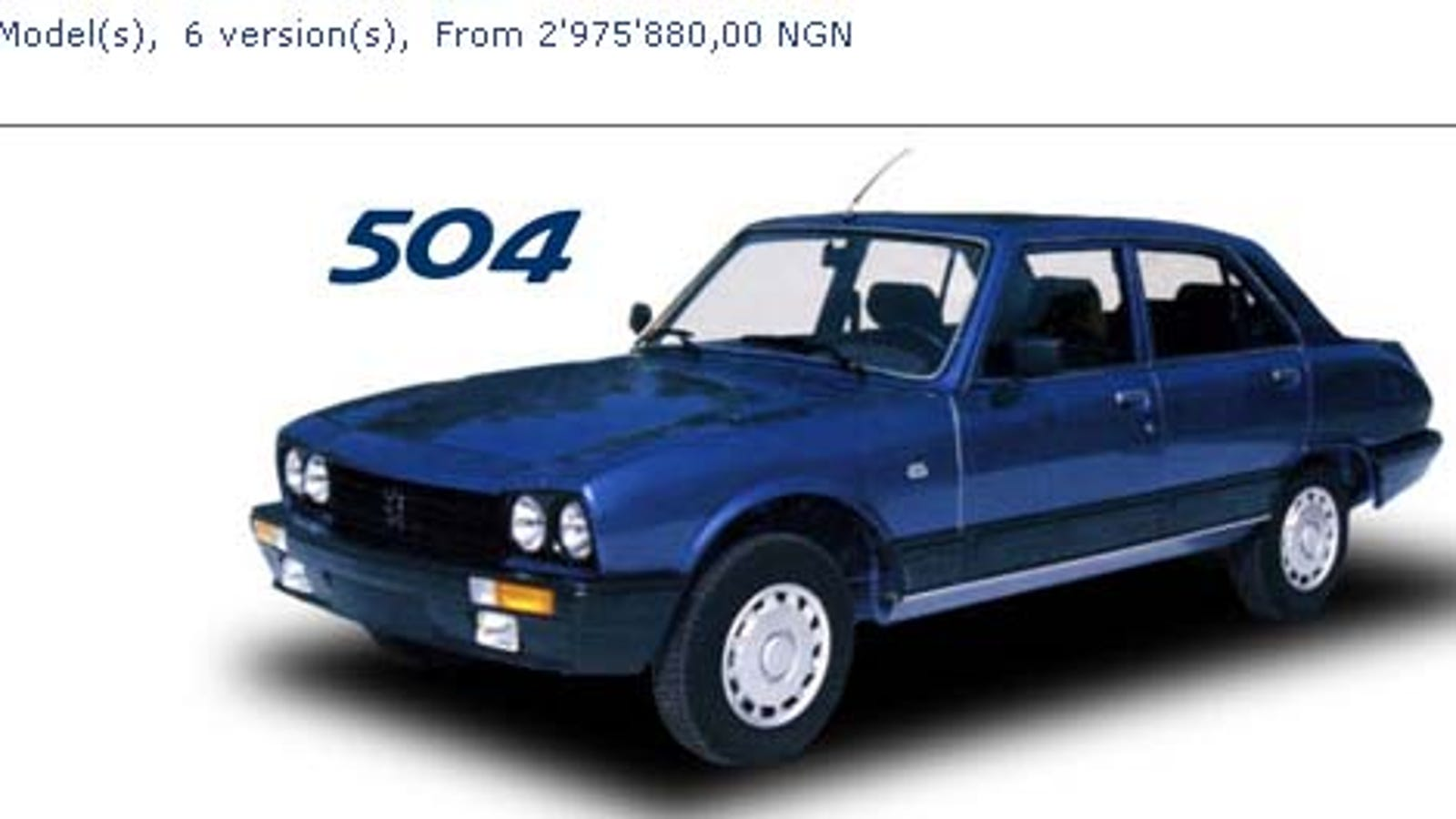 want a brand new peugeot 504? head to nigeria!