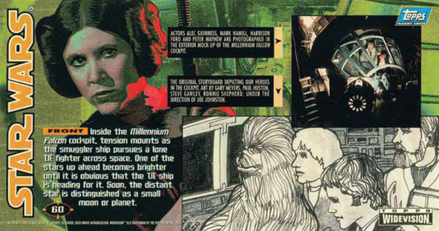 bask in the nostalgia of these classic widevision star wars trading cards