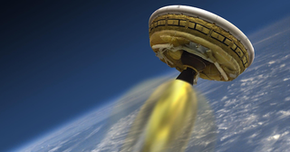 """Illustration for article titled Watch NASA Test Its Rocket-Powered """"Flying Saucer"""" Live On io9!"""