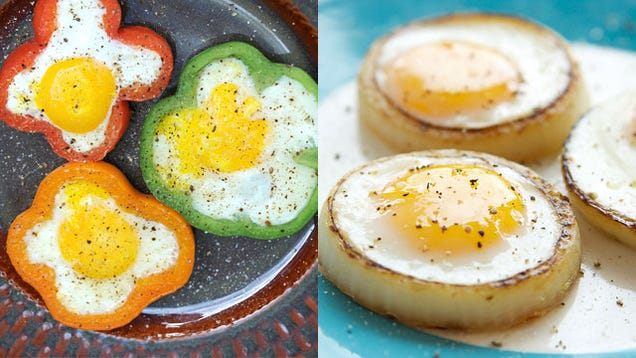 Image result for cook your fried eggs inside an onion ring
