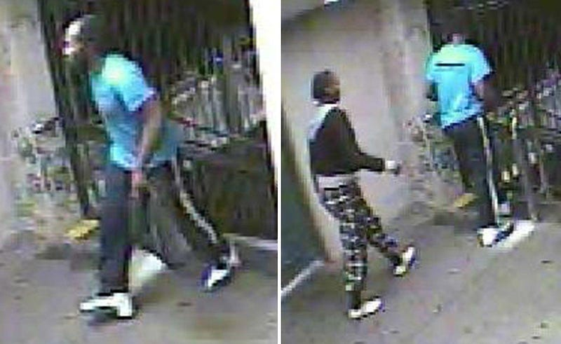 Surveillance footage of a man and women suspected in a New York City subway slashing Oct. 2, 2016New York City Police Surveillance Images