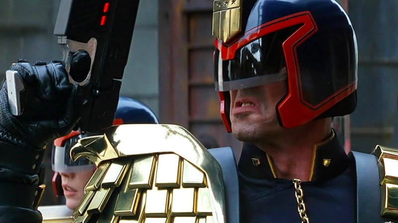 Judge Dredd is getting another shot in live action. This time in a TV show. Image: Buena Vista