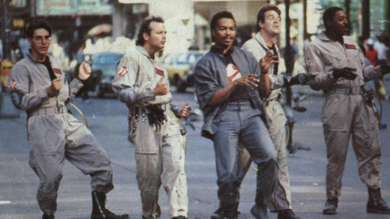 Ray Parker Jr. and the gang, in simpler times