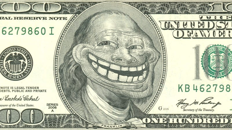 Image result for trolling money