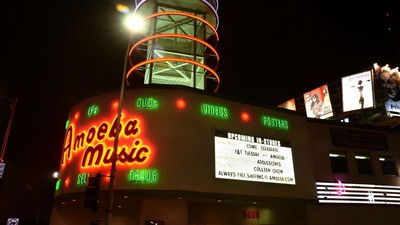 The Amoeba Music location in Hollywood. (Photo: Beck Starr/Getty Images)