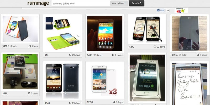Illustration for article titled Rummage Turns eBay's Interface Into a Pinterest Clone