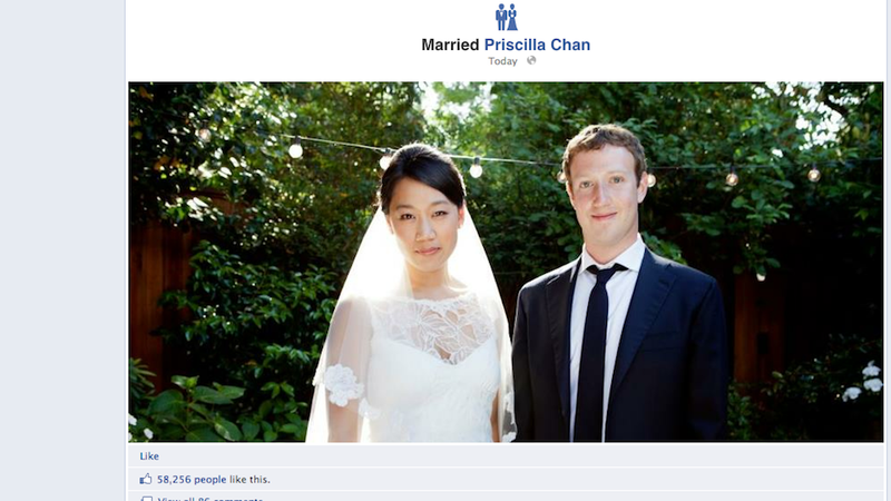 Illustration for article titled Zuckerberg Just Got Married