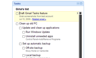 Illustration for article titled Gmail Tasks Keeps It (Too) Simple