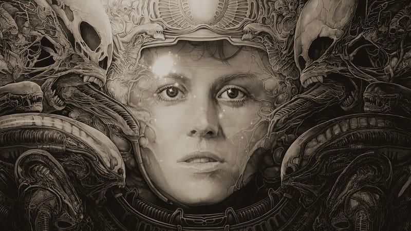 A crop of Gabz's beautiful poster for Ridley Scott's Alien.