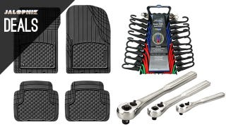 Illustration for article titled Trim-To-Fit Mats, Tie Down Everything, Upgrade Your Tools [Deals]