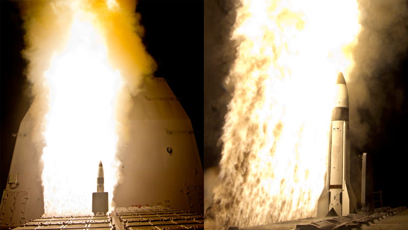 Illustration for article titled Launching Missiles Froms Ships Creates Hell On Earth