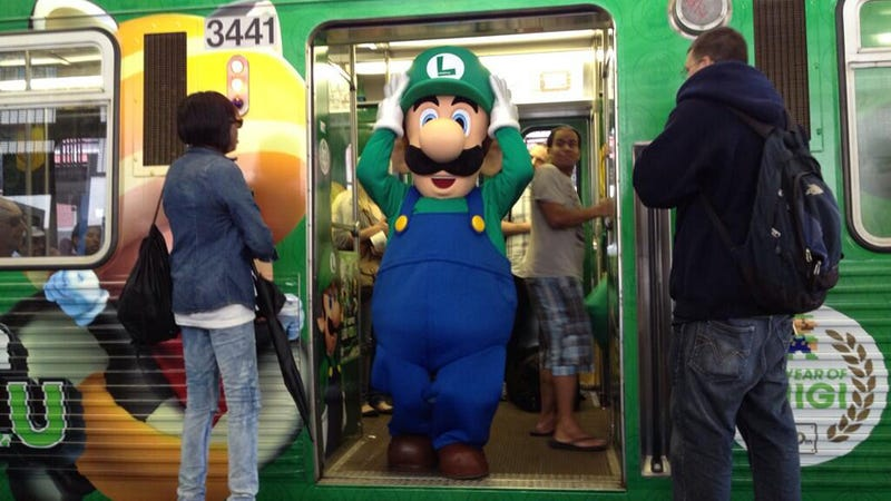 Illustration for article titled Chicago's L Becomes the 'Luigi' Train for a Day