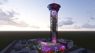 Illustration for article titled La montaña rusa vertical más alta del mundo tendrá 55 pisos