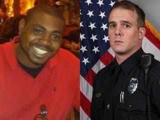 Jocques Clemmons and Officer Joshua Lippert/The Tennessean