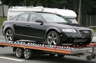 Illustration for article titled 2010 Audi A7 Caught Testing, Crashing Near The Nürburgring
