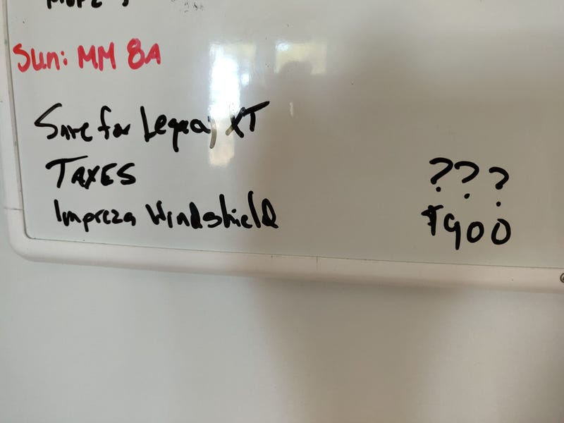 Illustration for article titled My dad was doing budget math on the fridge whiteboard yesterday