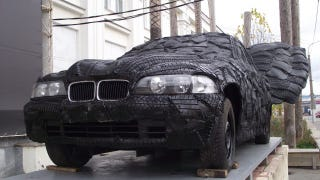 Illustration for article titled Tire covered BMW with wings must be seen to be believed
