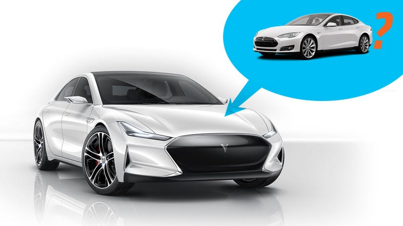 Illustration for article titled Is That KITT And Tesla-Inspired Car From China Actually A Tesla?