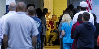 Voters in Florida during the 2012 presidential election (Mark Wallheiser/Getty Images)