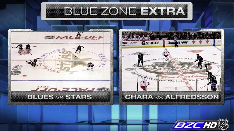 Illustration for article titled NHL's New 'Blue Zone' Channel Only Shows Games When The Puck Is Within 3 Feet Of One Of The Blue Lines