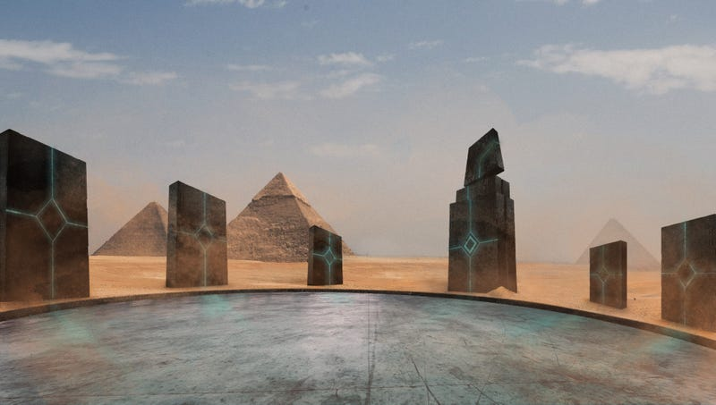 Illustration for article titled Controversial Theory Suggests Aliens May Have Built Ancient Egypt's Intergalactic Spaceport
