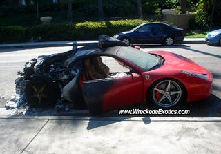 Illustration for article titled First American Ferrari 458 Italia Burns To The Ground