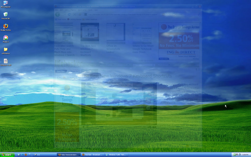 Illustration for article titled Windows 7 Shortcuts Enables the Best Win7 Shortcuts in XP or Vista