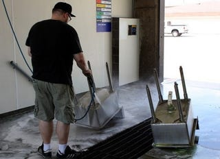 Use a Car Wash to Thoroughly Clean Bulky Household Items