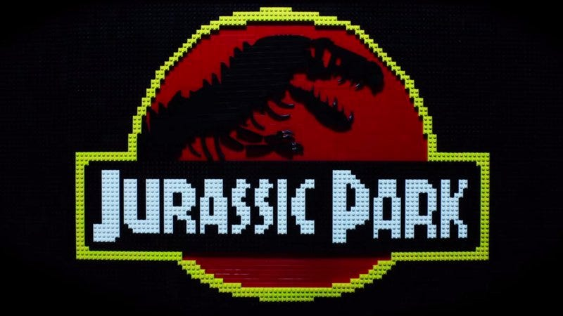 Illustration for article titled A father/daughter team recreated some amazing Jurassic Park scenes in Lego