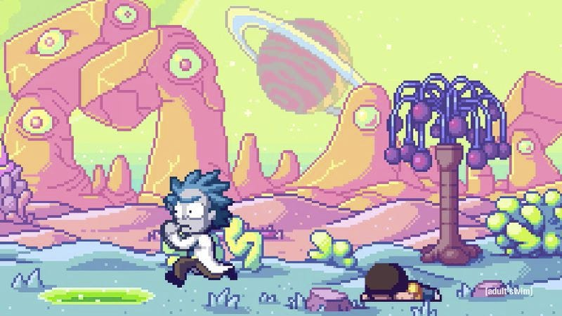 Screenshot: Rick And Morty 8-Bit Intro