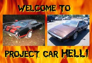 Illustration for article titled Project Car Hell: Toasted Esprit or Hacked 442?
