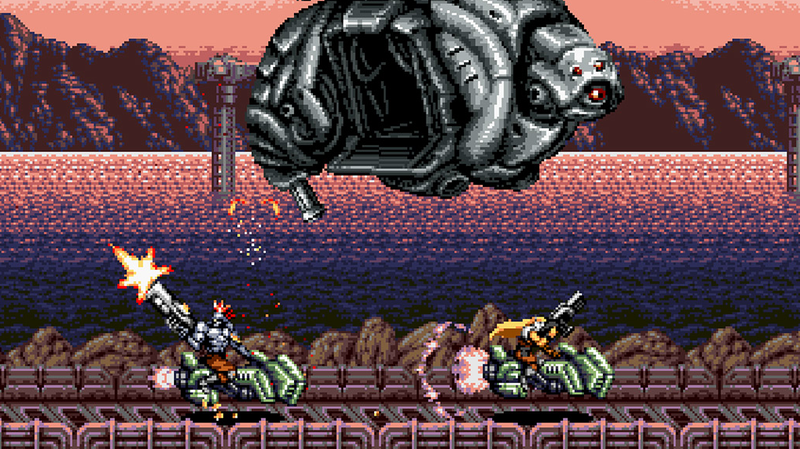 Illustration for article titled Blazing Chrome Is A Fine Love Letter To 16-Bit Contra