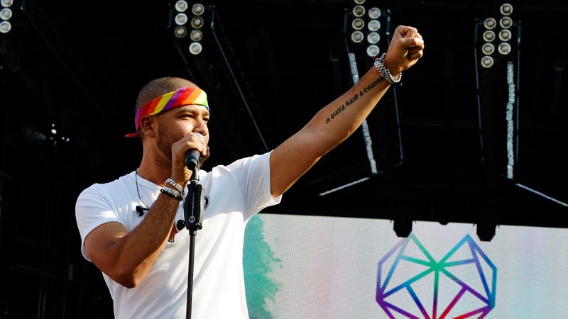 Jussie Smollet performs at 2018 LOVELOUD Festival Powered By AT&T on July 28, 2018 in Salt Lake City, Utah.