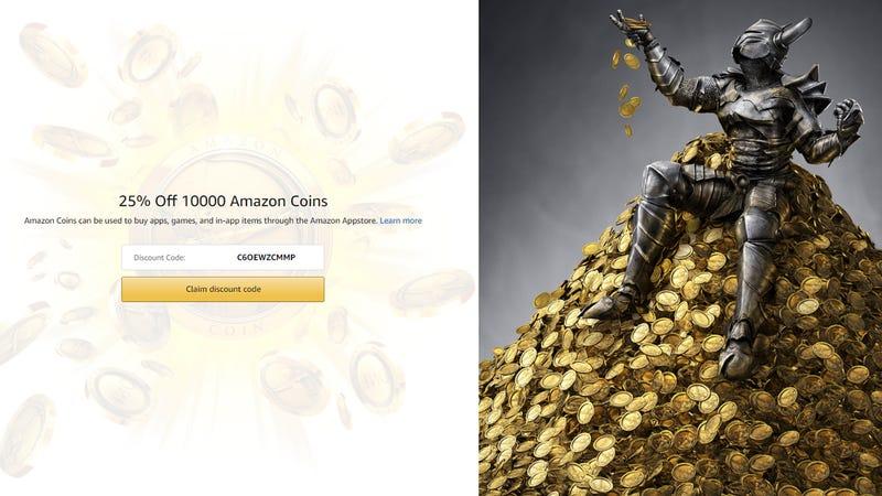 10K Amazon Coins | $61 | Amazon | Use the code C6OEWZCMMP