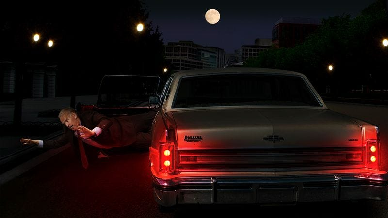 Illustration for article titled Biden Tossed Out Of Car Passing By White House