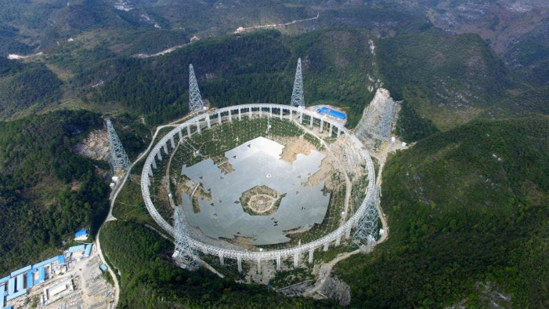 Illustration for article titled China Finished Building Its Alien-Hunting Telescope