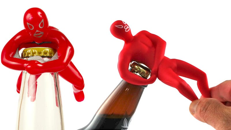 Illustration for article titled Luchador Bottle Openers Wrestle Caps Into Submission