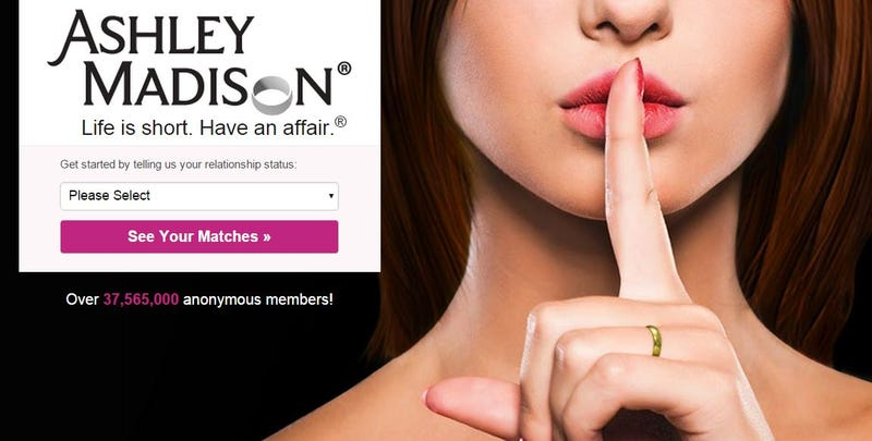Illustration for article titled Hackean la web Ashley Madison: 37 millones de adúlteros al descubierto