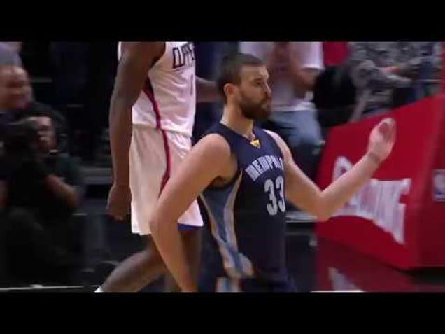 "Marc Gasol Unveils The ""Spanish McGregor Walk"""