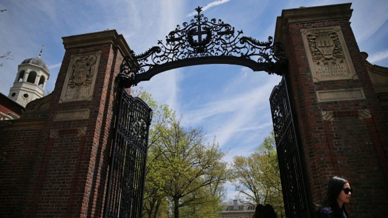 Exterior of Harvard University (Photo: Boston Globe/Getty Images)