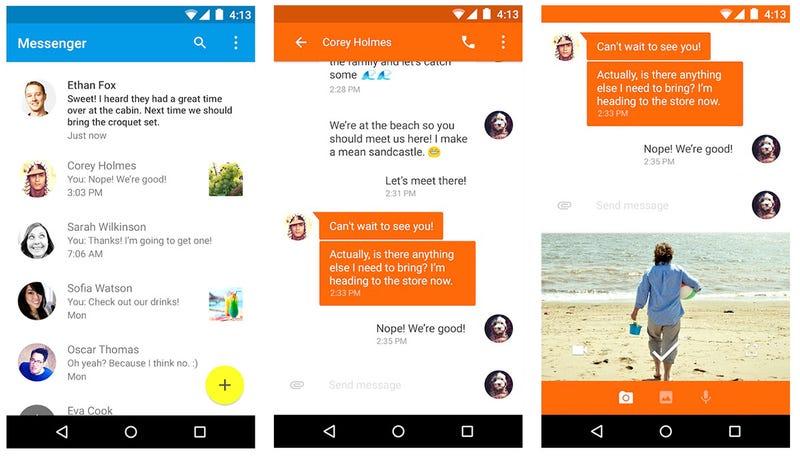 Illustration for article titled La nueva app de mensajería de Google ya está disponible en Google Play