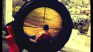 Illustration for article titled Israeli Lunatic Sniper Instagrams a Photo of a Child in His Crosshairs
