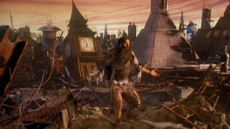 The alternate, apocalyptic ending of Raimi's Army Of Darkness
