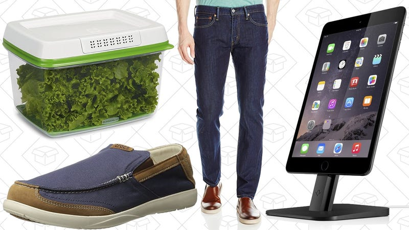 Illustration for article titled Today's Best Deals: Amazon Levi's Sale, Rubbermaid FreshWorks, Anker SoundBuds, and More