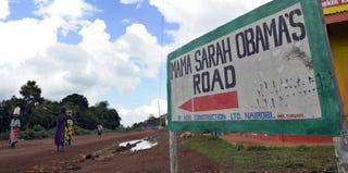 A road in Kogelo (Tony Karumba/AFP/Getty Images)