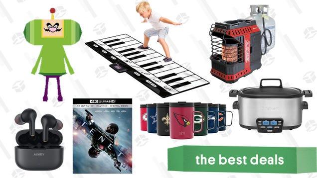 Monday s Best Deals: Tenet Blu-ray, Insulated NFL Mugs, Giant Floor Piano, Katamari Damacy Reroll, Cuisinart 3-in-1 Cooker, BuddyFlex Outdoor Heaters, and More