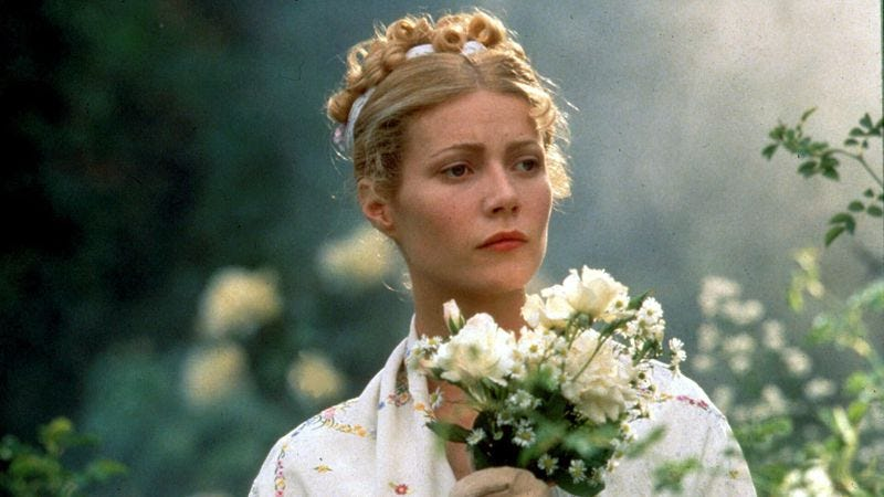 Illustration for article titled Gwyneth Paltrow does Jane Austen in a quintessential Miramax movie